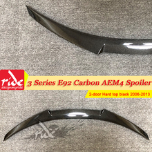 For BMW E92 2-Door Coupe Carbon Fiber Rear Trunk Spoiler M4 Style 3 Series 320i 323i 325i 330i 335i Tail Wing 2006-2013
