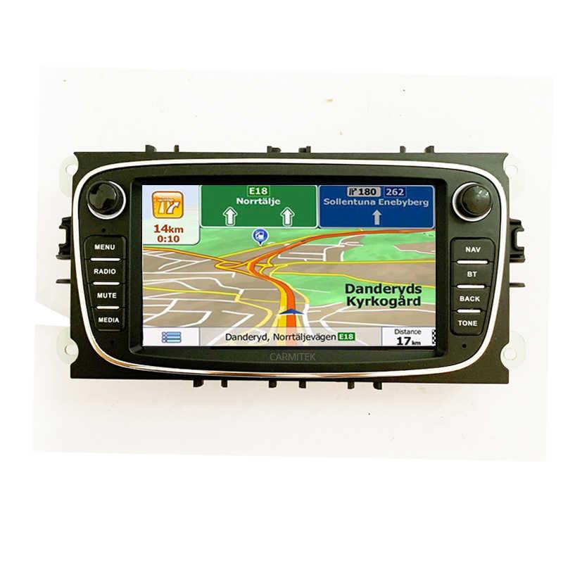 2DIN Android Xe Đầu DVD 2 DIN Đài Phát Thanh GPS NAVI Cho Xe Ford Focus Mondeo Kuga C-MAX S-MAX Galaxy 2005- 2011 Âm Thanh Stereo Đầu Đơn Vị