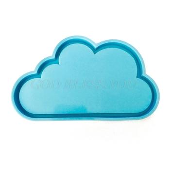 Chmura żywica Coaster formy chmura silikonowe formy DIY Handmade epoksydowa dekoracja żywiczna foremka chmura kształt żywica formy narzędzia tanie i dobre opinie CN (pochodzenie) Na stanie SILICONE GUGUJI222