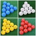 HOT 20Pcs 41mm Golf Training Bälle Kunststoff Luftstrom Hohl mit Loch Golf Bälle-in Golfbälle aus Sport und Unterhaltung bei
