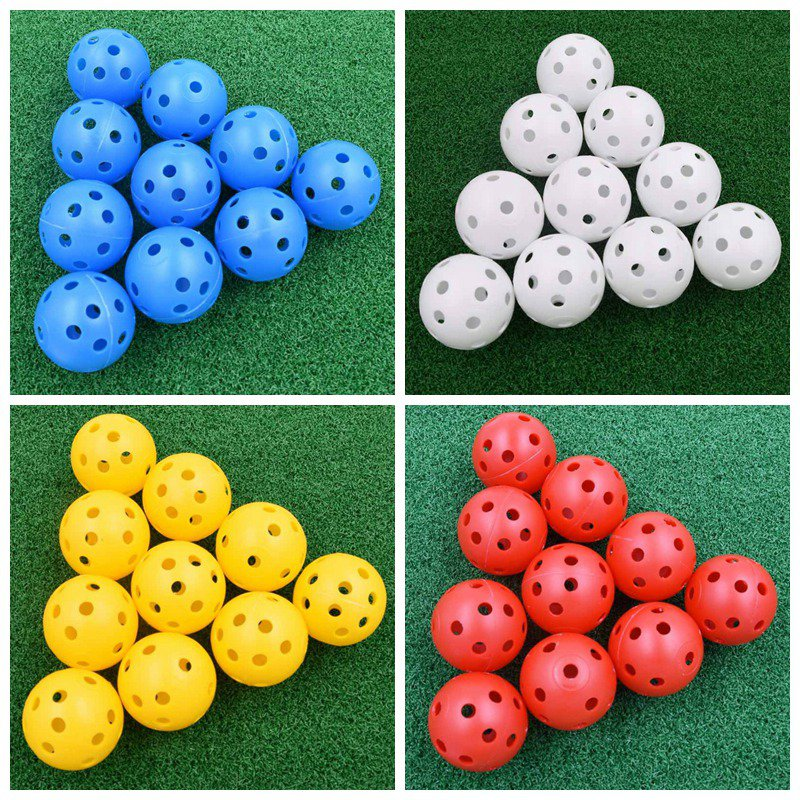 HOT 20Pcs 41mm Golf Training Balls Plastic Airflow Hollow With Hole Golf Balls