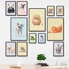 Kawaii Animals Koala Panda Penguin Wall Art Print Canvas Painting Nordic Poster And Prints Pictures Kids Room Decor