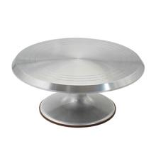 Инструмент для выпечки 10 дюймов, поворотный стол для кремового торта, Поворотная настольная подставка, поворотное основание, Серебряное украшение