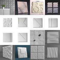 Sombra creativa estereoscópica cemento pared molde decoración Fondo pared azulejo molde pasta tipo pared azulejo manual molde