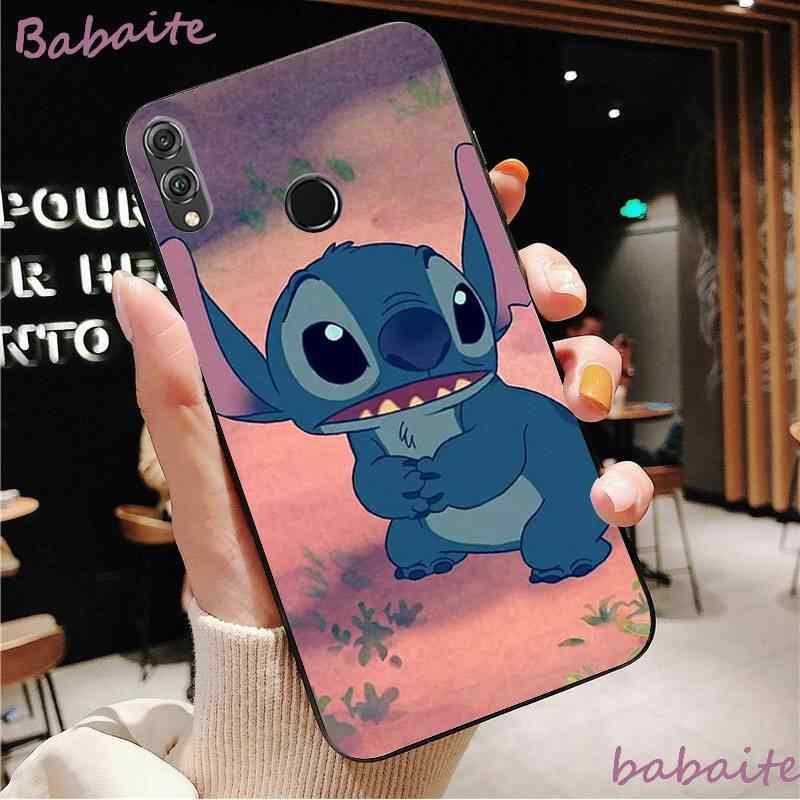 Babaite lilo stitch design de moda couro fino macio telefone capa para huaweiy9 2018 honra 8 8x 9 lite vista 9 10 honra 10 20 lite