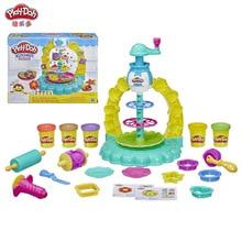 Hasbro Play Doh Creative Kitchen Series Colorful Cookie Tower Set Children's Plasticine Toy Birthday Gift