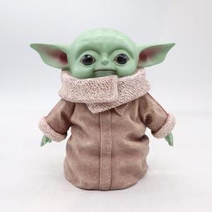 Мандалорские Детские куклы из ПВХ Yoda, Маска Звездных войн для домашнего украшения стола, Детская экшн-фигурка, коллекция игрушек, Holloween, пода...