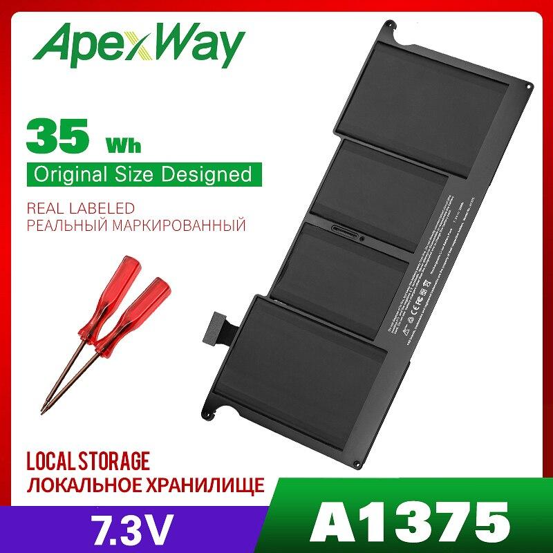Batterie d'ordinateur portable Apexway 7.3V 35WH pour Apple A1375 pour Apple MacBook Air 11