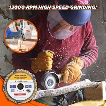 Carving Chain Disc Woodworking Chain Saws Disc Wood Carving Disc Chain Plate Tool for 125MM Angle Grinding 5 Inch Grinder Chain tool tool lateralus 2 lp picture disc