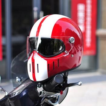 Thompson Motorcycle Helmet Motorbike Riding Full Face Helmet Vintage Chopper Retro Helmet Capacete Casco Moto