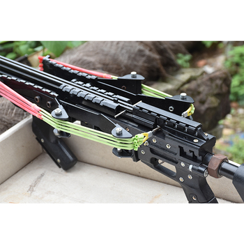 Wolf King Powerful Slingshot Rifle Metal Hunting Catapult Continuous Shooting 40-rounds Ammo and Arrow for Hunting and Shooting 2
