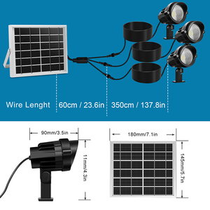 Image 2 - 3 في 1 في الهواء الطلق LED ضوء الشمس IP66 مقاوم للماء إضاءة ليد تعمل بالطاقة الشمسية مصباح مصباح إنارة غامرة خارجي لحديقة فناء المناظر الطبيعية الحديقة