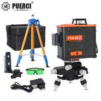 PUERCI P6CG 12 lignes 3D vert niveau Laser auto-nivelant 360 Horizontal une croix verticale Super puissant vert faisceau Laser ligne