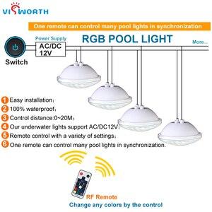 Image 3 - Par56スイミングプールライトdc 12ボルトrgb smd5730 24ワット36ワット水中ライトip68防水屋外スポットライト用池、噴水、プール