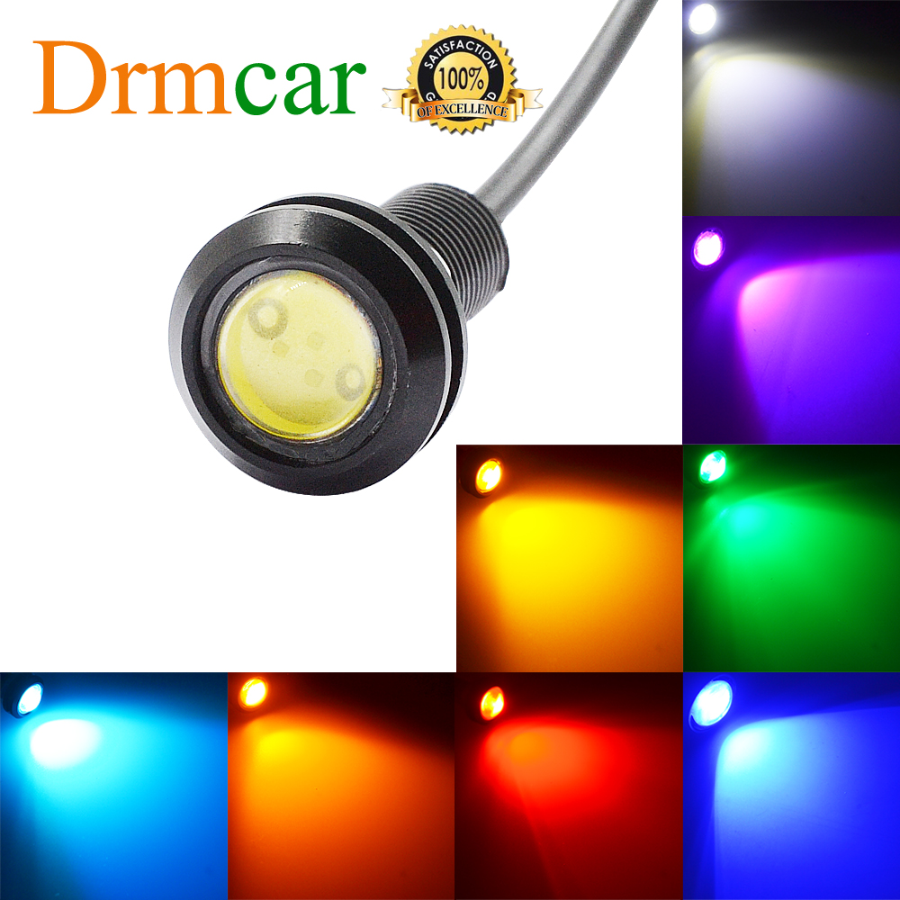 18MM Car LED Red Eagle Eye Day Time Running Lights Backup Reversing Parking Signal Lamps Waterproof  Motorcycle Fog Light