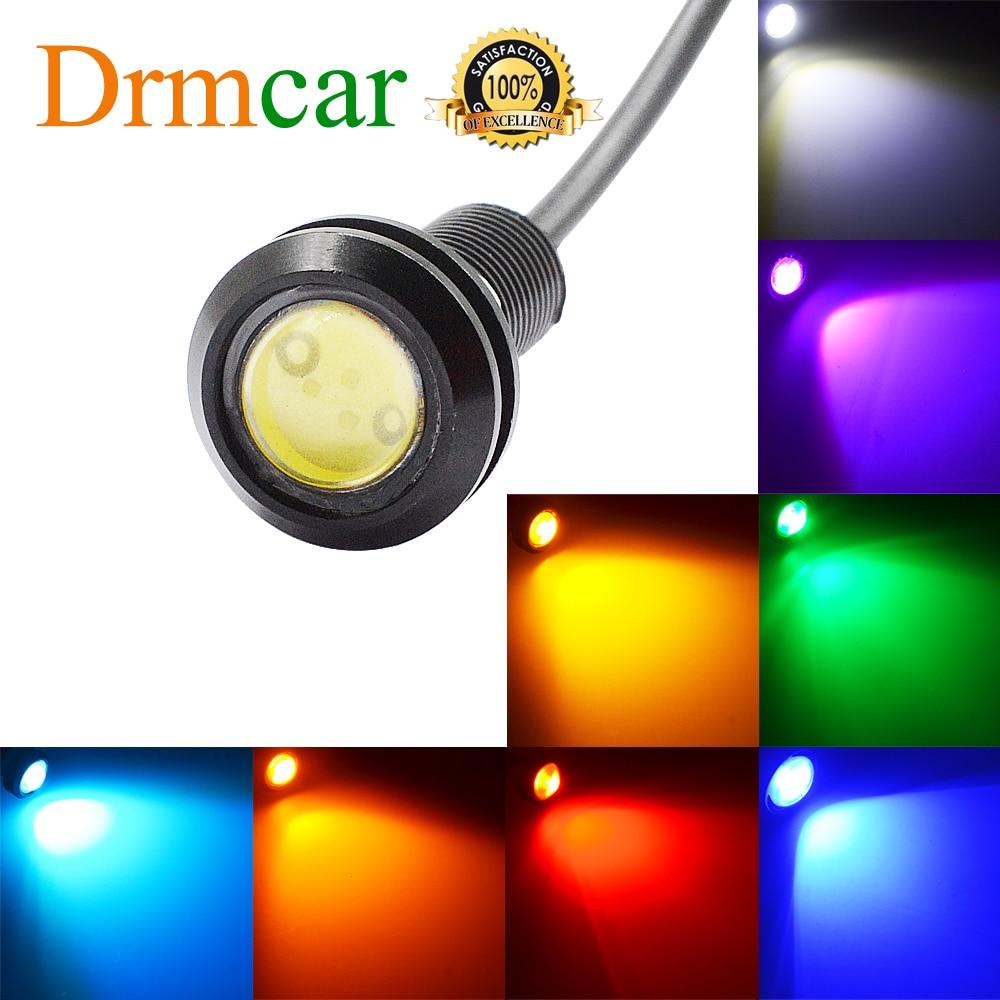 18MM Car LED Red Eagle Eye Day Time Running Lights Backup Reversing Parking Signal Lamps Waterproof  Motorcycle Fog Light