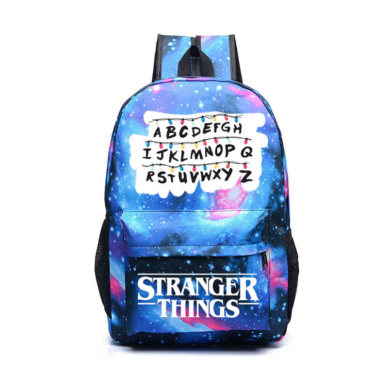 IMIDO Stranger Things Backpack Women Casual Travel Bag School Students Backpacks Star Universe Space Printing Shoulder Bags