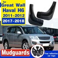 만리 장성을위한 자동차 머드 가드 펜더 머드 플랩 Haval H6 Regular Edition 2011 2012 2017 2018
