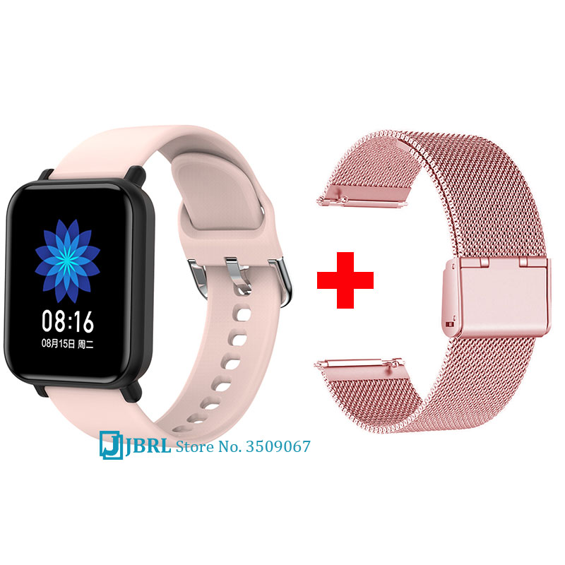 Newest Full Touch Smartwatch Women Men Smart Watch Bluetooth Smart Band Ladies Fitness Bracelet Android IOS Phone Waterproof