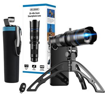 APEXEL 20x-40x Zoom teleskop teleobiektyw obiektyw profesjonalne monokularowy obiektyw kamery telefonu do Samsung dla iPhone Huawei Xiaomi statyw tanie i dobre opinie 20-40X 4 4-8 8 CN (pochodzenie) IPX4 BAK4 Z tworzywa sztucznego CENTRAL dropshipping wholesale