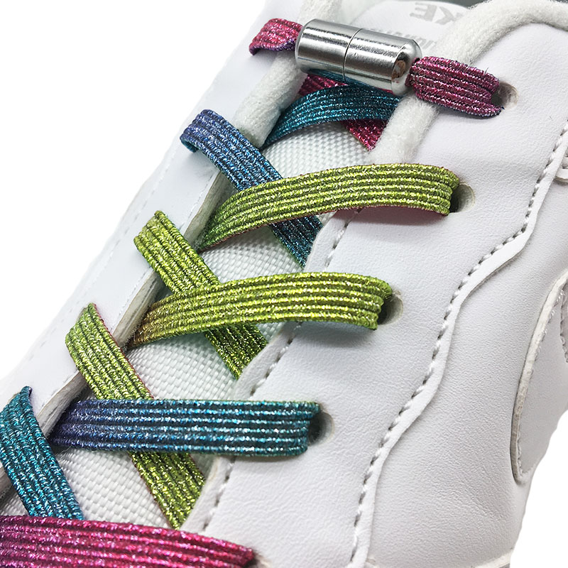 New No Tie ShoeLaces Elastic Locking ShoeLace Special Creative No Tie Shoes Lace Kids Adult Unisex Sneakers Laces Strings
