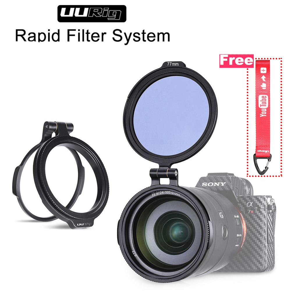 ND Filter Quick Switch Ring Bracket DSLR Lens Flip Mount 49mm 58mm 67mm 72mm 77mm 82mm for Vlog Sony Nikon DSLR Camera Accessory in Photo Studio Accessories from Consumer Electronics