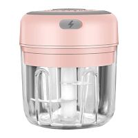 250ml-pink-3 blade-Electric Garlic Crusher Food Shredder Smart USB Baby Food Supplement Machine