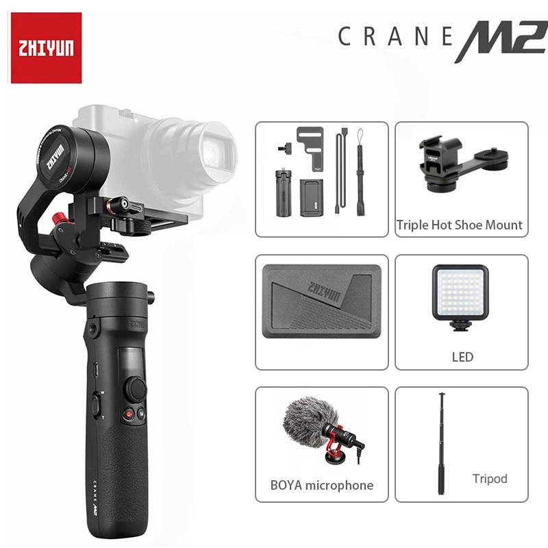 Zhiyun nouvelle grue M2 3 axes stabilisateur de caméra universel pour smartphone action Gopro Hero 7 5 6 Sony A6300 A6400 Canon VS grue 2