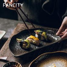 Креативная тарелка с полулуной fancity японская и ветровая посуда
