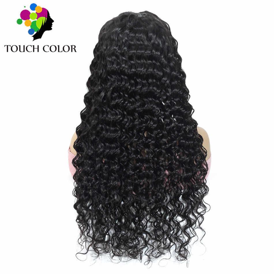 Вьющиеся человеческие волосы 360 Синтетические волосы на кружеве парик влажные и волнистые бразильские волосы глубокая волна 13x6 Синтетические волосы на кружеве al парик для Для женщин Волосы remy 13x4 HD парик шнурка