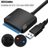 40CM USB 3.0 à Sata adaptateur convertisseur câble USB3.0 câble convertisseur pour Samsung Seagate WD 2.5 3.5 HDD SSD adaptateur
