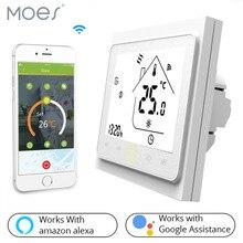 Termostato inteligente, termostato inteligente controlador de temperatura, aquecimento elétrico do piso funciona com alexa echo google home tuya