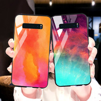 silicone case Tempered Glass Case For samsung galaxy S10 S9 S8 plus Cases Space Silicone Covers for samsung S10E note 8 back cover (1)