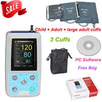 FDA US ABPM50 24 hours Ambulatory Blood Pressure Monitor Holter ABPM Holter BP Monitor with software contec