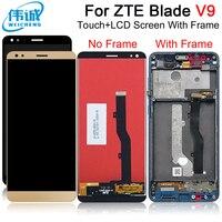 Weicheng zte lâmina v9 telefone inteligente painel de toque + display lcd digitador da tela toque lentes para zte v0900 ferramentas gratuitas