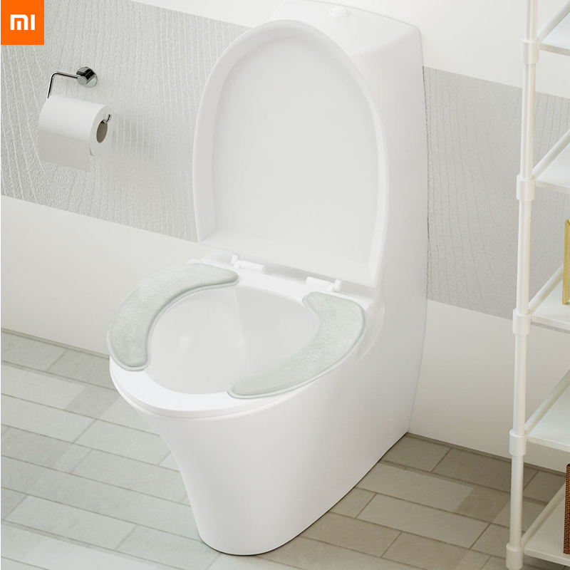 Xiaomi Youpin Toilet Seat 1 Pair Selected Flannel No Trace Adsorption Easy To Remove And Wash Protable Warm For Famlily Winter