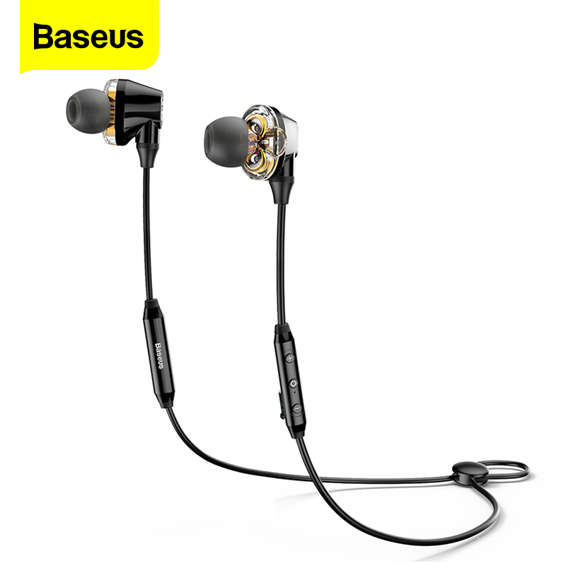 Baseus S10 Bluetooth Earphone Wireless Headphone For Phone IPX5 Dual Driver Headset With Mic Sport Earbuds Casque fone de ouvido|Bluetooth Earphones & Headphones|   - AliExpress