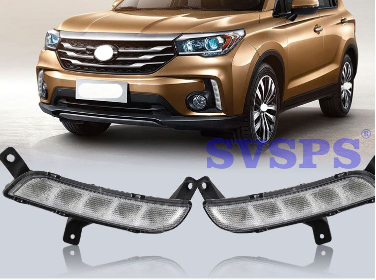 High Quality Tuning Parts Daytime Running Lights Fog Lights Modified Highlights For GAC Trumpchi GS4 2015 2016 2017