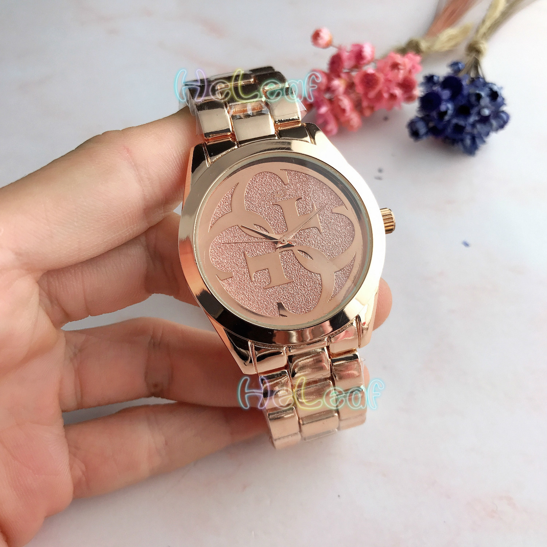 Luxury Hot Sale brand Ladies watches Silver Gold Full Steel Quartz Watch Female black Clock Montre Femme Relogio Feminino