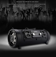 NoEnName_Null bluetooth4.0 speakers portable 15W subwoofer LED flash M17 ooutdoor speaker With LED display 3 colour