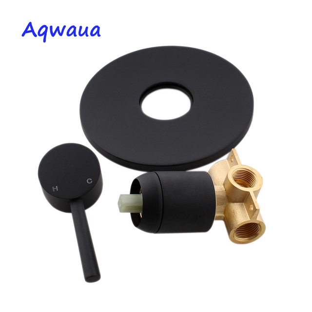 Aqwaua Concealed Shower Mixer Wall Mounted Valve Hot & Cold Water shower Diverter Shower Faucet Brass Shower Mixer for Bathroom