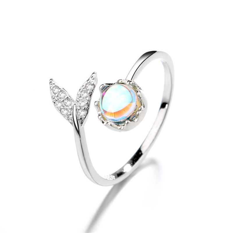 Adjustable Ring Crystal Women 100%925-Sterling-Silver Original Gift Fashion New Stone