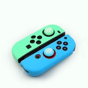 Image 5 - Thumb Stick Grip Cap Animal Crossing Joystick Cover Skin For Nintendo Switch NS Joy Con Nintend Joycon Controller Silicone Case