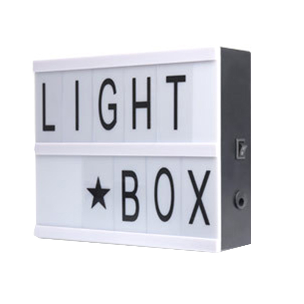 Interior Decoration DIY Letters USB Charging Home Multipurpose ABS Wedding Party Gift Outdoor LED Light Box