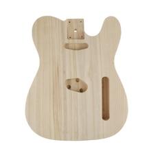 جوفاء الرملي لم تنته الحرفية الكهربائية باس الغيتار الخشب الجسم برميل ل تليستر نمط DIY بها بنفسك الغيتار الكهربائي أجزاء الجسم