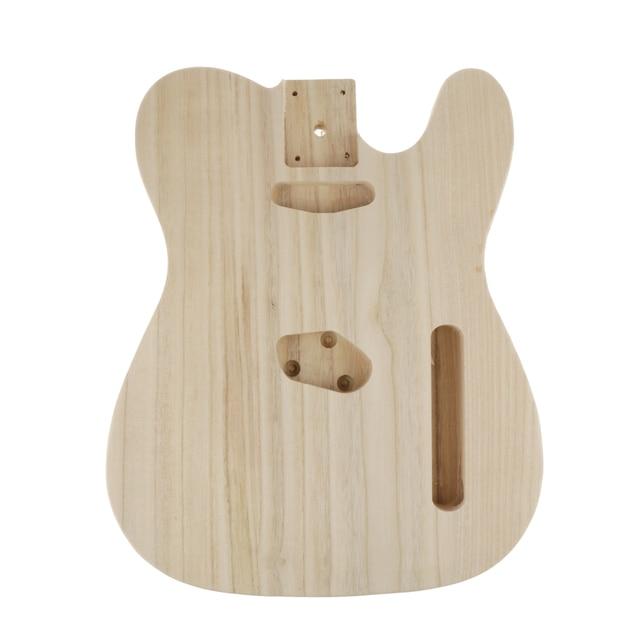 Cuerpo de madera para guitarra eléctrica, barril de madera para guitarra eléctrica Telecaster, artesanía manual sin terminar, lijado ahuecado, piezas para cuerpo de guitarra eléctrica