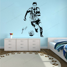 Football Star Wall Sticker vinyl   removable  Wall Art mural  wall decor for Boys room Wall Decal HJ357 movie cartoon characters wall sticker vinyl boys room wall decor movie wall decal art mural jh377