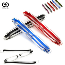 Diopter reading glasses men and women folding 360 degree rotating 1.0 1.5 2.0 2.5 3.0 3.5
