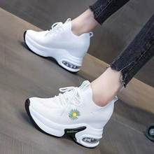 Mesh Fashion Women Platform Casual Shoes Lace Up Spring and Autumn Ladies Casual Sneakers Round Toe Women Flat Shoes(China)