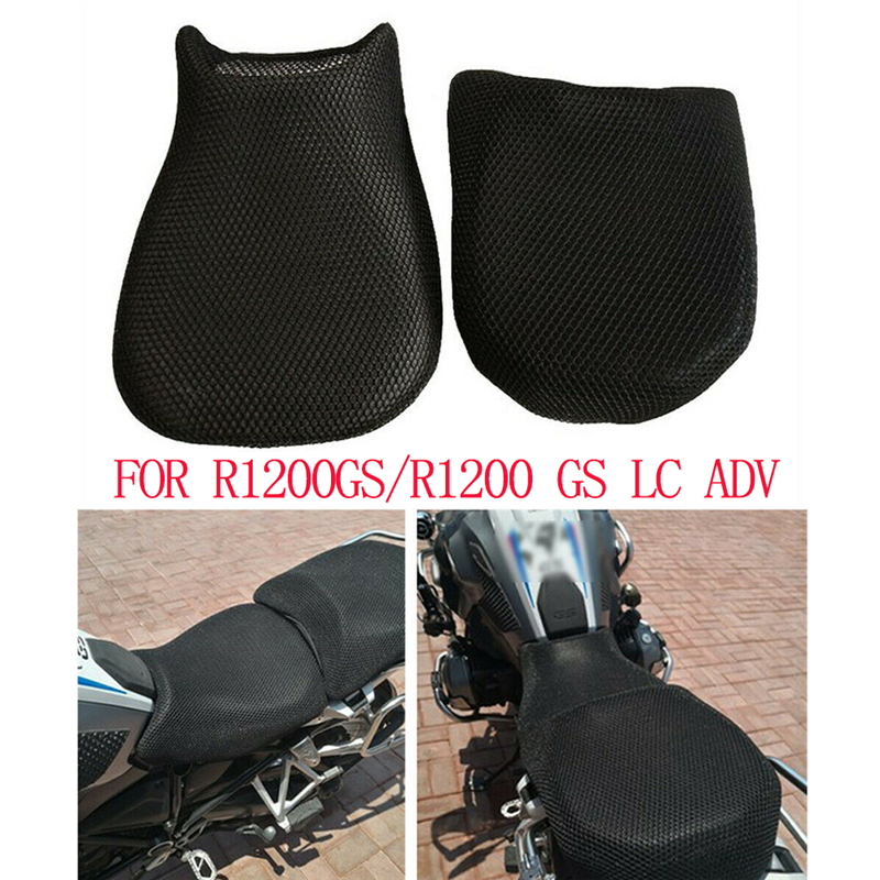 Motorfiets Accessoires Scooter Motorfiets Seat Cover Mesh Mat Kussen Cover Anti-slip Ademend Voor BMW R1200GS/R1200 GS LC ADV title=